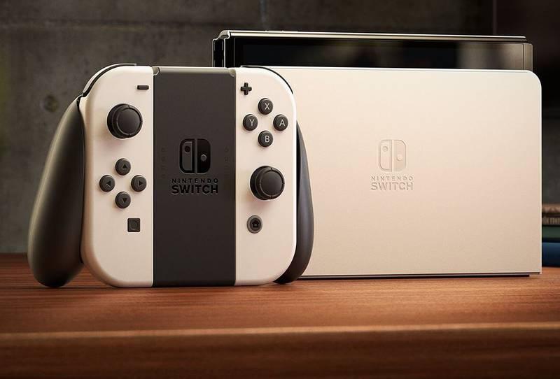 El Nintendo Switch OLED está disponible en blanco y en azul y rojo neón.
