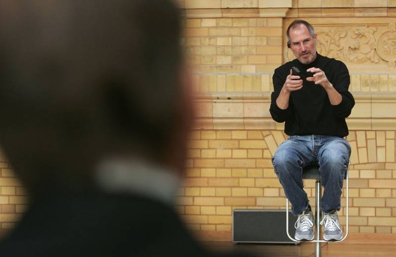 Steve Jobs con las New Balance 992