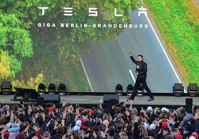 Elon Musk en el Giga-Fest de Tesla