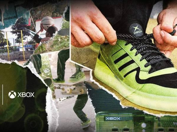 Xbox y Adidas celebran el 20° aniversario de la consola con estas zapatillas fluorescentes
