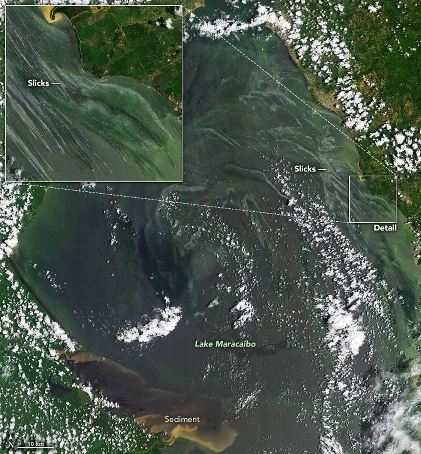 Las fuentes de esos colores fueron las algas, las salidas de sedimentos de los ríos y las fugas de petróleo crudo.