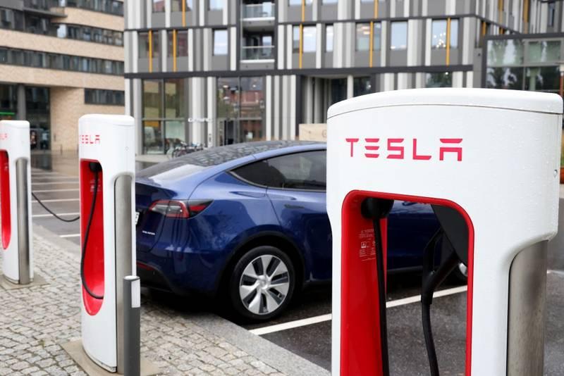 Supercargador de Tesla en Berlín