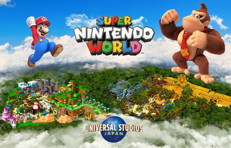 El parque temático de Universal Studios, Super Nintendo World, tendrá un área con Donkey Kong como principal imagen.