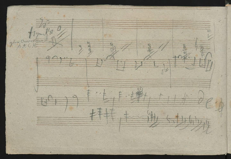 Boceto dejado por Beethoven de su Décima Sinfonía